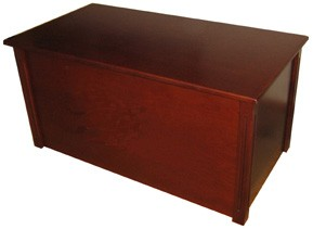 Dark Cherry Toy Box - This wooden chest makes a perfect kids keepsake gift!