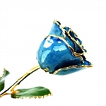 Blue Lacquer and Gold Trimmed Rose
