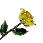 Yellow Lacquer and Platinum Trimmed Rose