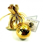 24K Gold Dipped Golf Ball-One - A perfect gift for golf lovers!