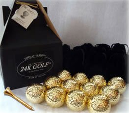 24K Gold Dipped Golf Ball and 24K Tee-Dozen - These make great corporate gifts!