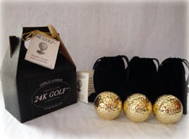 24K Gold Dipped Golf Ball-Three - A perfect gift for golf lovers!