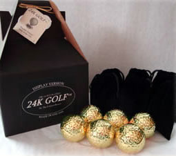 Gold Tone Golf Ball-Six - This makes a great golf gift for any guy!