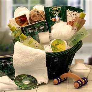 Spa Luxuries Gift Basket - Invigorating Eucalyptus essence that soothes the skin and the senses
