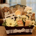 Vanilla Essence Candle Gift Basket  - Infuse her senses with the delicious scent of vanilla.
