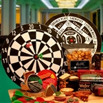 Deluxe Bullseye Dartboard and Gourmet Gifts - Truly a dart lovers gift!