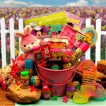 Pink Bunnies Easter Fun Pail - More Easter Treats than Sweets