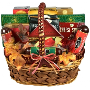 A Cut Above Cheese And Sausage Gift Basket - A combination of cheese, meats, snacks and sweet treats.