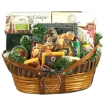 Giant Home For The Holidays Gift Basket - Our extra extra large version of our best selling holiday cheese, meat, savory and sweet gourmet basket.