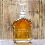 Personalized Two Lines Accented Whiskey Glass Decanter