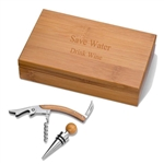 Bamboo Wine Accessory Gift Set