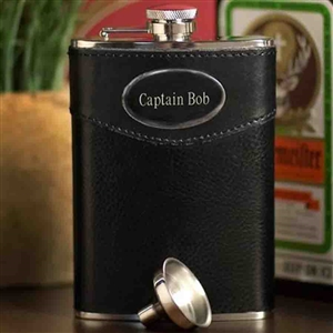 8 oz. Leather Flask