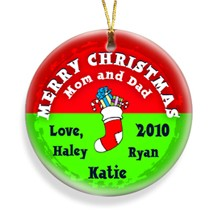 Stocking Red Merry Christmas Personalized Ornament - Decorate your tree with personalized ornaments!
