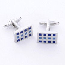12 Squares Cufflinks with Personalized Gift Box - Cufflinks to match personalities packed in an elegant personalized chrome box