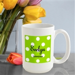 Personalized Polka Dot Coffee Mug