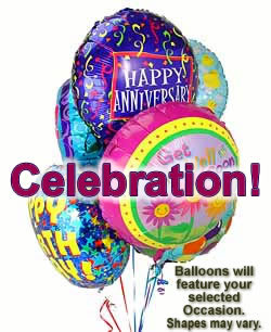 Celebrate any occasion with luminous balloons! - Half Dozen Mylar Balloons - Celebration