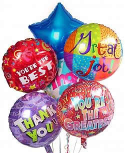 Celebrate National Boss Day with fun balloons! - Half Dozen Mylar Balloons