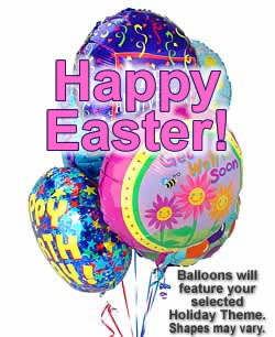 Celebrate any occasion with luminous balloons! - Half Dozen Mylar Balloons - Easter