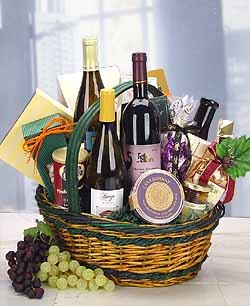 A superior basket of wine and gourmet. - The Vintner - Trio of Premium Wines and Gourmet Foods