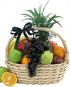 A basket of fruit is a welcome gift during the holidays. - Just for You-A Basket of Fresh Fruit