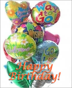 Celebrate any occasion with luminous balloons! - Dozen Mylar Balloons - Birthday