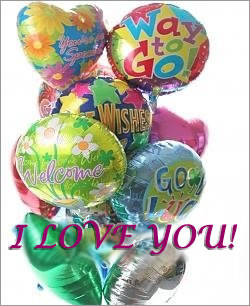 Celebrate any occasion with luminous balloons! - Dozen Mylar Balloons - Love