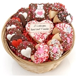 Personalized Cookie Gift Basket - This gift features some of Lady Fortunes© most popular gourmet goodies with your custom message.