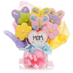Just for Mom Cookie Bouquet - Choose our 5, 7, 9 or 12 piece arrangement of Flower Sugar Cookies.