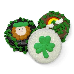 Chocolate Dipped St. Patrick's Day Oreos - Oreo Cookies dipped in a variety of high quality Belgian Chocolates.