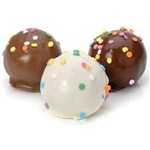 Confetti Truffle Cake Bons - Handmade truffle cakes in your choice of flavors and dips!