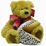 Holiday Bear and Fortune Cookie - Holiday Bear and Fortune Cookie with Gift Message