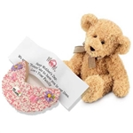 Mother's Day Fortune Cookie and Teddy Bear - The perfect pair a Teddy and Giant Fortune Cookie with Mom Candy Plaque.
