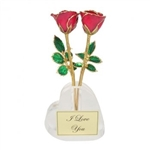 Acrylic Heart Shaped Bud Vase - Add Personalization