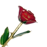 Be My Valentine Rose  - Choose Colors, Trim and Message