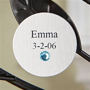 Family Tree Children's Silver Charm and Birthstone