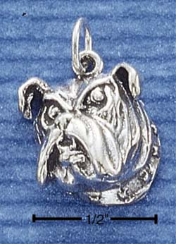 Bulldog Face Charm
