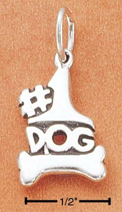 Number One Dog Charm