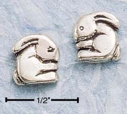 Rounded Bunny Post Earrings