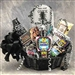 <b>Over the Hill Birthday Basket<br>Large Size is displayed in the photo.</b><br> A tasteful Birthday gift for 40th Birthdays </b><br>