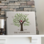 Personalized Your Family Tree Canvas Print
