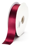 large burgundy satin ribbon