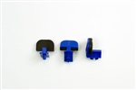 Giffin Grip Parts: Wide Blue Sliders (3) with Pads