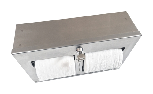 Double Roll Toilet Tissue Dispenser- Horizontal, Surface Mount