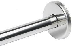 "1"" Formed, Round Snap-on Concealed Wall Flange w/ Collar, Satin Stainless Finish - 3"" Dia."