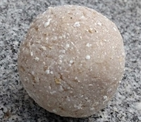 Hand-Milled Unscented Oatmeal Soap Ball