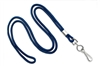 "Round 1/8"" (3 mm) Standard Lanyard W/ Nickel Plated Steel Swivel Hook - 25 Each - Royal Blue"