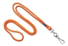 "Round 1/8"" (3 mm) Standard Lanyard W/ Nickel Plated Steel Swivel Hook - 25 Each - Orange"