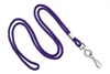 "Round 1/8"" (3 mm) Standard Lanyard W/ Nickel Plated Steel Swivel Hook - 25 Each - Purple"