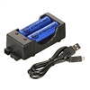 Streamlight 18650 USB Charger Kit, Charging Cradle, 18650 Lithium Ion Batteries - Includes Two 18650 Batteries
