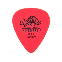 Jim Dunlop 418R-50 Tortex Red 0:50 mm, bag of 72